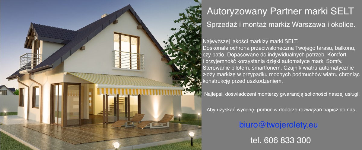 Markizy Selt Warszawa 2021