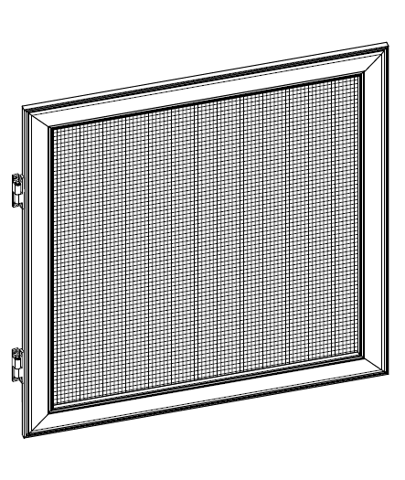 Moskitiera zwijana drzwiowa